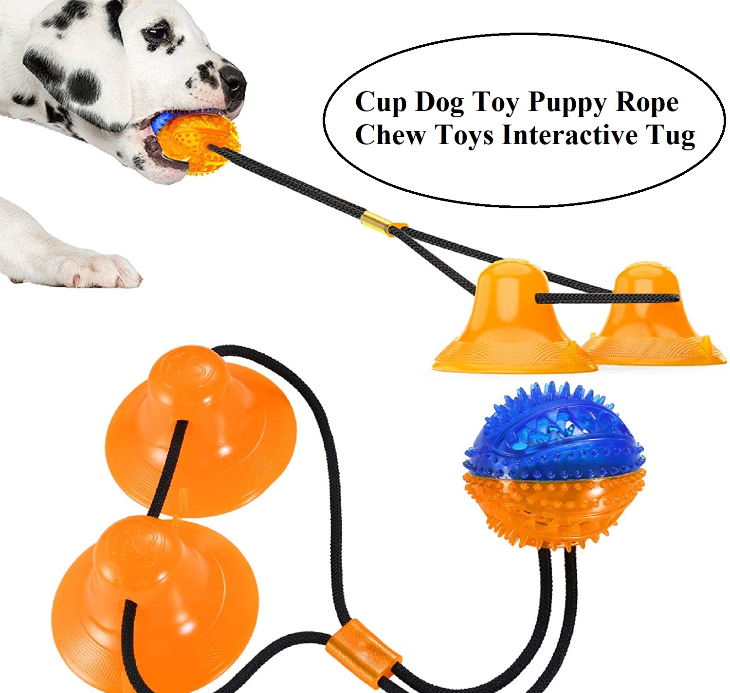 Cup Dog Toy Puppy Rope Chew Toys Interactive Tug
