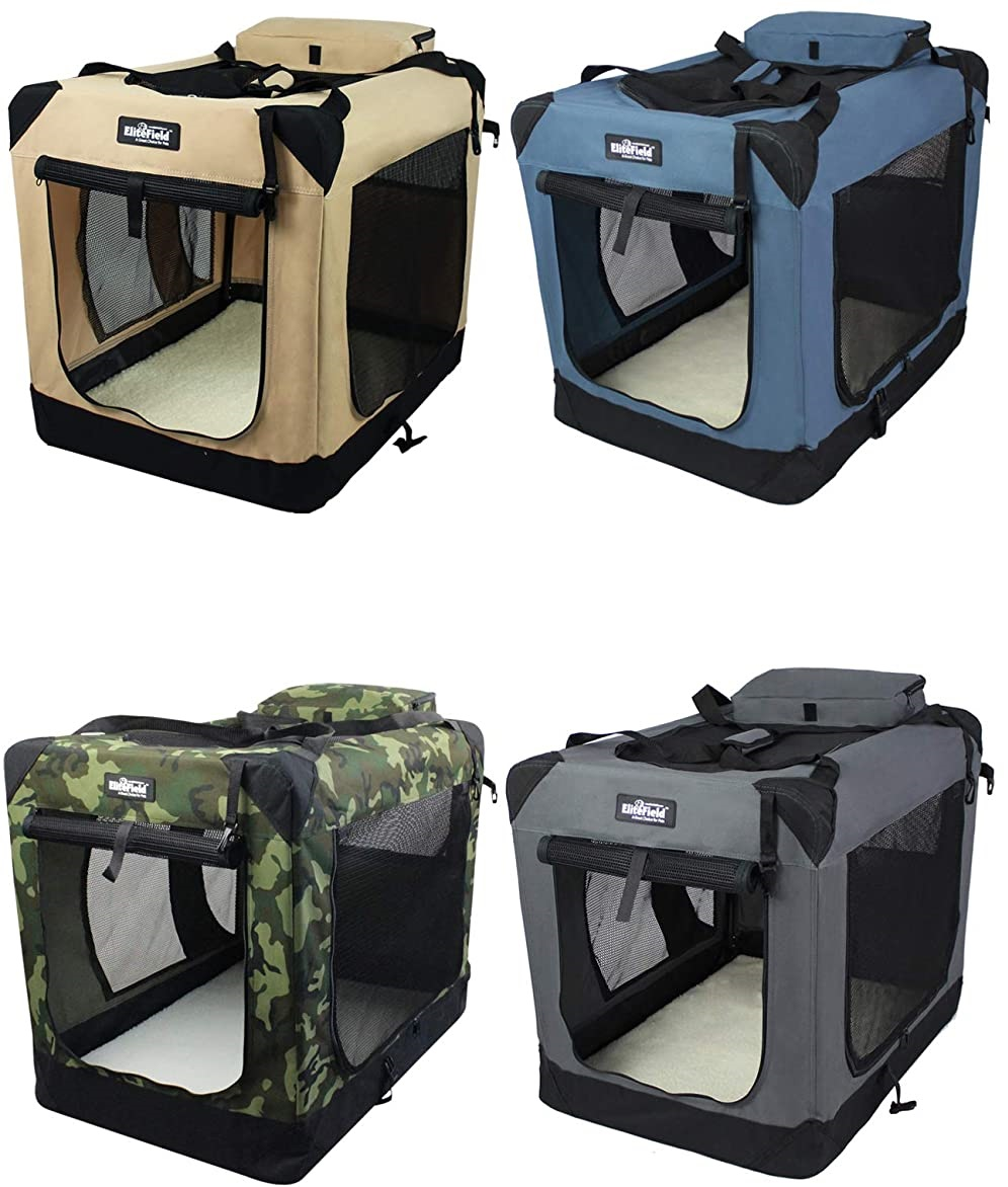Folding Soft Dog Crate, Indoor & Outdoor Pet Home